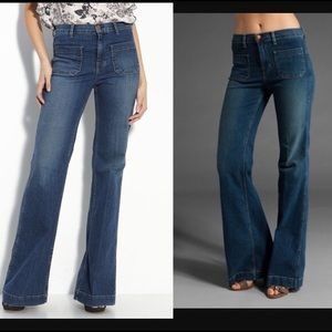 J Brand Bette Wide Flare Jeans Wonderama 24